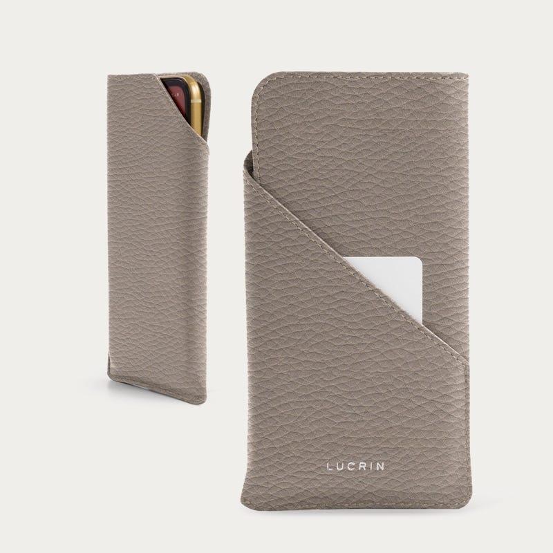 Skräddarsydd Fodral för iPhone 11 Pro - Ljus Taupe - Granulerat läder